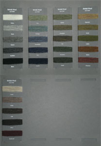 British Wool Samples